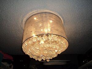 Crystal Flushmount Light Fixture for Sale