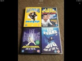 Lee Evans DVD Collection x4
