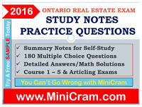REAL ESTATE LICENSE OREA EXAM- STUDY NOTES & SAMPLE QUESTIONS