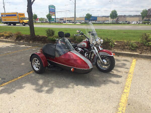 HD Heritage Softail with sidecar