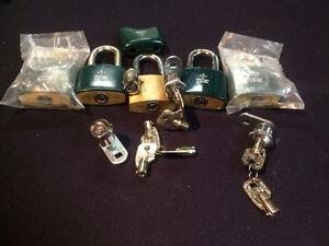 4 CAM LOCKS & 5 Chicago pad locks all keyed alike ACE II