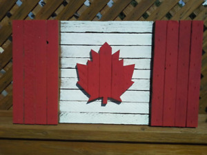 Celebrate Canada by Gifting a Rustic, Wooden Canadian Flag