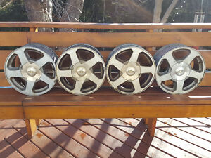 Factory Rims Off 02 to 06 Chev Trail Blazer 5 inch Bolt Pattern