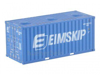 Kombimodell 88305.02 20' Fuss Container Bulk EIMSKIP blau H0 1/87 NEU+OVP