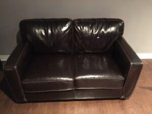 2 sofas en cuir Philippe Dagenais- Excellent état