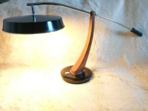 FASE presidential desk lamp made in Spain, Rosewood