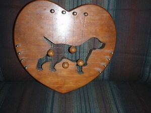 Heart with Beagle door harp decor