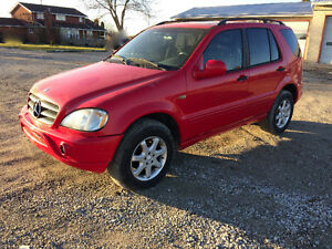 1999 ML500 BENZ RED