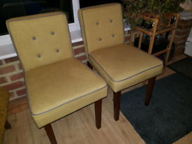 2 Dining room chairs by Made furniture