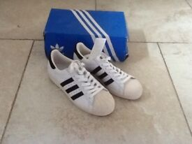 ADIDAS SUPERSTAR 80's TRAINERS SIZE 5