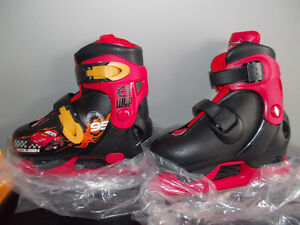 Adjustable Lightning McQueen skates - NEW