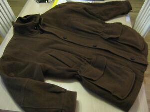 Beau manteau brun doux large printemps- hiver- automne en laine