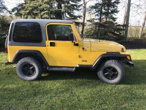2000 Jeep Wrangler tj  (safetied)