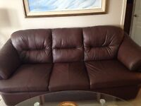 Leather couch and recliner - reduced price!!!!