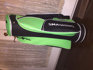 Golf Bag Black Floresent Green like New never Used Sport Putters