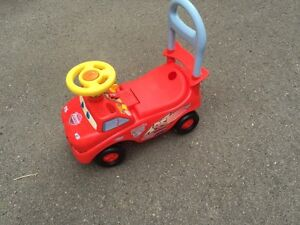 Cars ride and push