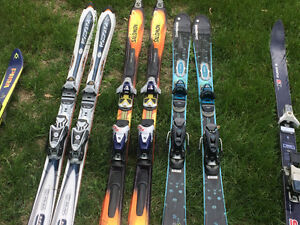 Various skis downhill and cross country needing good home