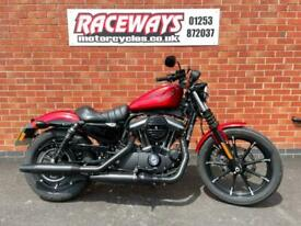 HARLEY-DAVIDSON XL883N IRON 2018 68 REG ONLY 201 MILES RED USED MOTORCYCLE