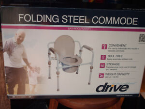 Folding steel commode only used for one day $100.00