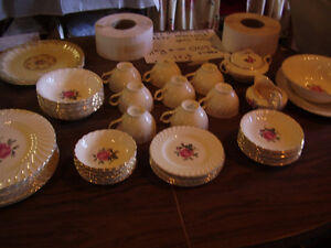 Assorted Dish Sets; Glassware; Pottery; Serving Trays