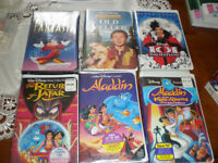 6 BRAND NEW UNOPENED RARE OUT OF PRINT DISNEY VHS.....  $5 FOR