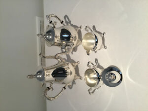5 piece silver plated coffee and tea set