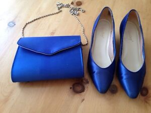 Satin shoes and purse