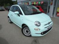 2017 Fiat 500 1.2 Lounge (s/s) 3dr Petrol green Manual