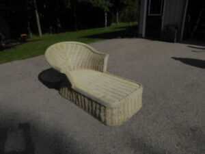 Wicker deck lounge chair  NEW PRICE