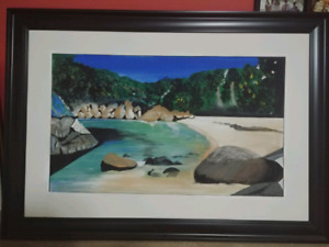 Beach front professionally framed