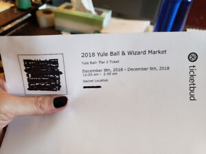 Harry Potter: The Yule Ball Tickets