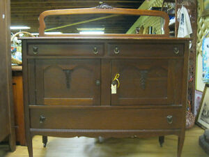 1920's Sideboard Buffet w/ Mirror Back Best Offer