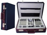 Cutlery set 72 pce leather case stainless stell - christmas present!