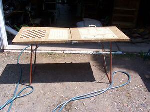 Vintage Games Table 5 ft by 2 ft Folds For Storage