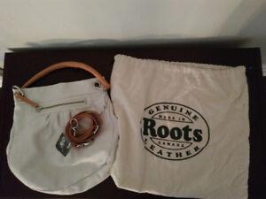 White Leather Cross-body Bag