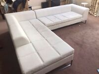 Dwell corner sofa faux leather