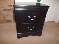 Black night stand with 2 drawers for sale