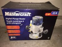 Mastercraft Digital Plunge Router - In Packaging - MOVING SALE