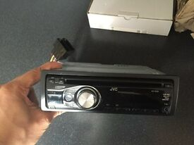 JVC KD R331 stereo with front aux port
