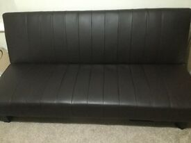Faux Leather Sofa Bed **NOW £80**