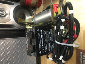 2014 polaris 800 starter assembly and battery