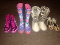 Girls size 1 bundle of footwear