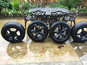 4-High Performance Studded Snow Tires W/Touren Rims North Shore Greater Vancouver Area image 2