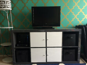IKEA TV storage combination, grey/white