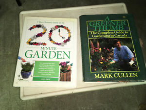2 Large Garden Books