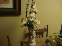 Flowers in Cherub Vase