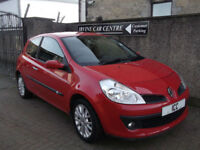 09 09 RENAULT CLIO 1.2 16V DYNAMIQUE SPORT 3DR RED ALLOYS A/C SPORTS SEATS F.S.H
