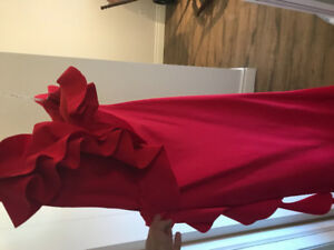 Magnificent brand new Red Gown on Sale for 350$ Size 4-6
