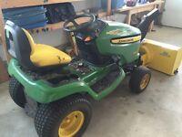 John Deere X340 Tractor w/ mowing deck and snowblower