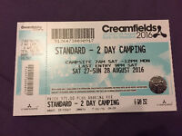 CREAMFIELDS 2016 2 DAY CAMPING TICKET